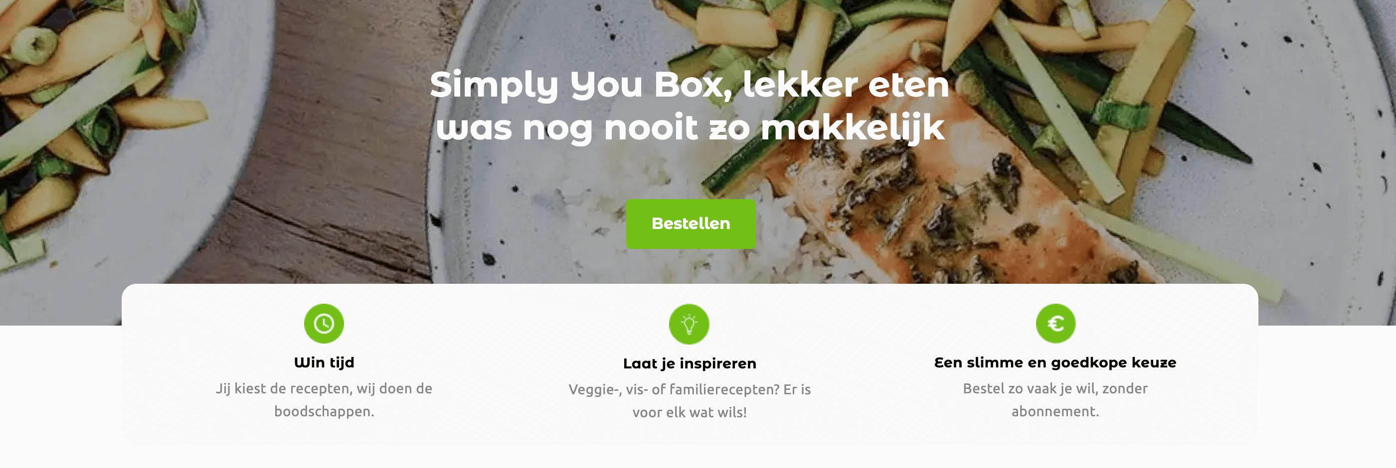 simply you maaltijdbox carrefour